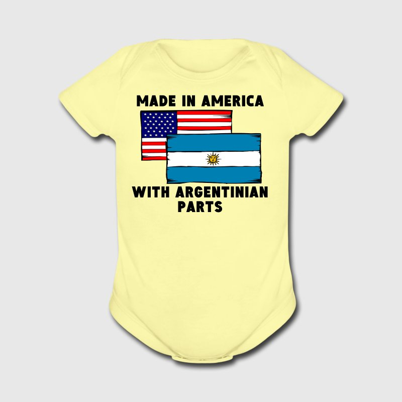 Made In America With Argentinian Parts - Short Sleeve Baby Bodysuit