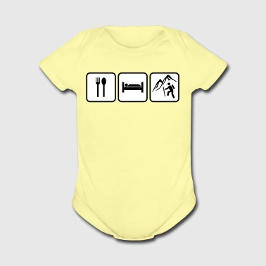 eat sleep hike - Short Sleeve Baby Bodysuit