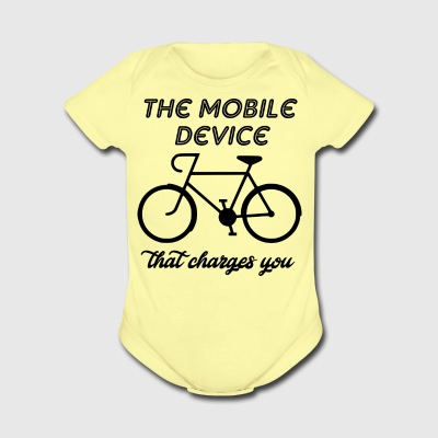 the mobile device that charges - Short Sleeve Baby Bodysuit