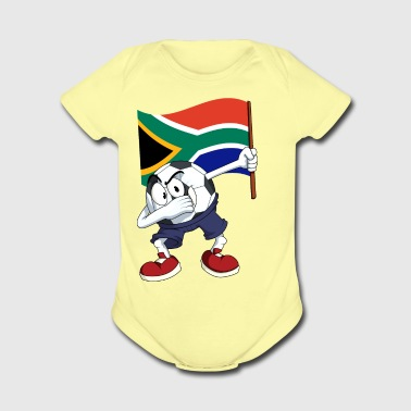 South Africa Dabbing Soccer Ball - Short Sleeve Baby Bodysuit