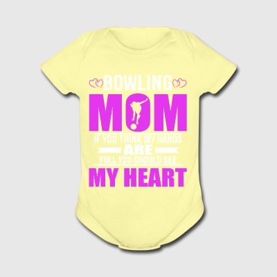 Bowling Moms Full Heart Mothers Day T-Shirt - Short Sleeve Baby Bodysuit