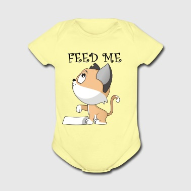 FEED ME - cute gift for cat lover - Short Sleeve Baby Bodysuit