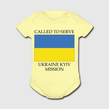 Ukraine Kyiv LDS Mission Called to Serve Flag - Short Sleeve Baby Bodysuit