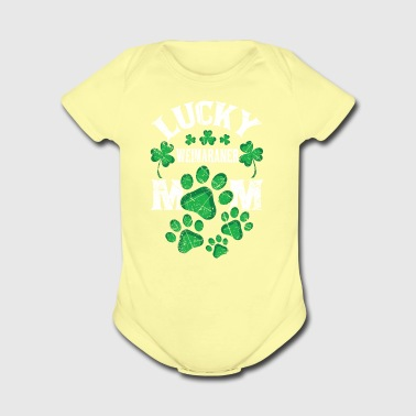 Lucky Weimaraner Mom Distressed St. Patrick's Day - Short Sleeve Baby Bodysuit