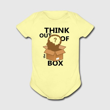 think outs of the box - Short Sleeve Baby Bodysuit