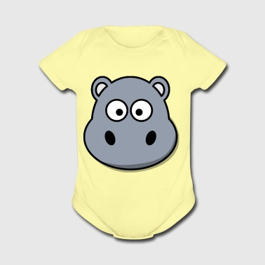 Hippo Africa Animal Zoo Wild Present River Gift - Short Sleeve Baby Bodysuit