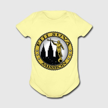 Fiji Suva Mission - LDS Mission Classic Seal Gold - Short Sleeve Baby Bodysuit