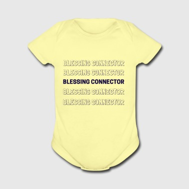 BLESSING CONNECTOR - Short Sleeve Baby Bodysuit