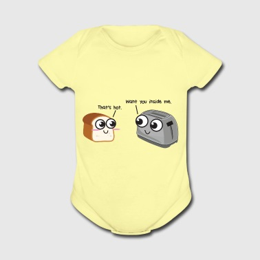 Toast loves Toaster - Short Sleeve Baby Bodysuit