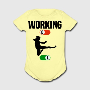 Working Job OFF karate sport ON gift - Short Sleeve Baby Bodysuit