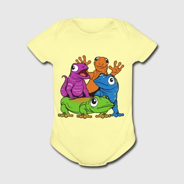 Lizards - Short Sleeve Baby Bodysuit