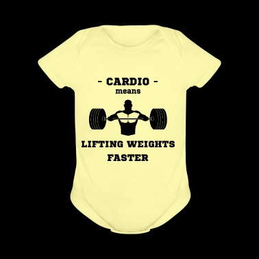 Cardio Liftiting Weights Faster Bench Press Sport - Short Sleeve Baby Bodysuit