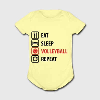 Volleyball - Short Sleeve Baby Bodysuit