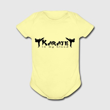 KARATE-in my blood - Short Sleeve Baby Bodysuit