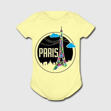 Paris - Short Sleeve Baby Bodysuit
