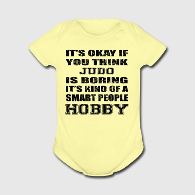 BORING SMART PEOPLE HOBBY GIFT JUDO - Short Sleeve Baby Bodysuit
