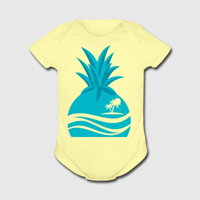 Island Pineapple - Short Sleeve Baby Bodysuit