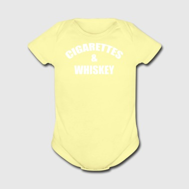 Cigarettes And Whiskey - Short Sleeve Baby Bodysuit