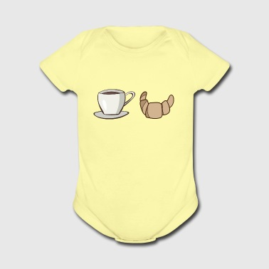 Paris Breakfast - Short Sleeve Baby Bodysuit