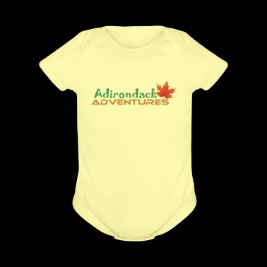Adirondack Adventures Logo 2 - Short Sleeve Baby Bodysuit