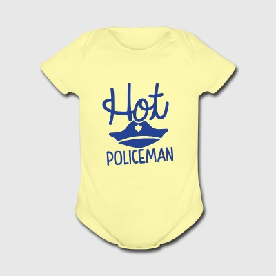 Hot Policeman - Short Sleeve Baby Bodysuit