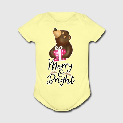 Merry and Bright - Short Sleeve Baby Bodysuit