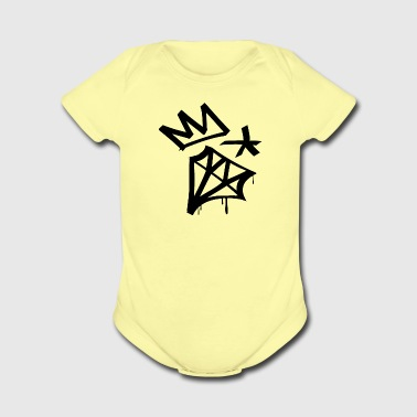 Diamond Crown Star - Short Sleeve Baby Bodysuit
