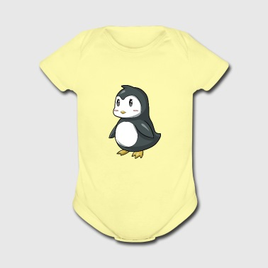 Cute Penguin - Short Sleeve Baby Bodysuit