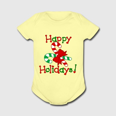 Happy Holidays - Short Sleeve Baby Bodysuit