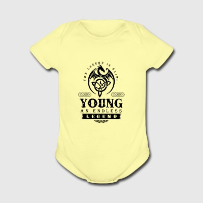 YOUNG - Short Sleeve Baby Bodysuit