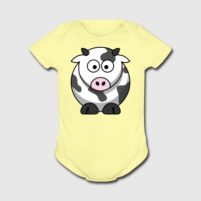 cow - Short Sleeve Baby Bodysuit