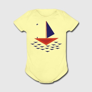 Boat abstract - Short Sleeve Baby Bodysuit