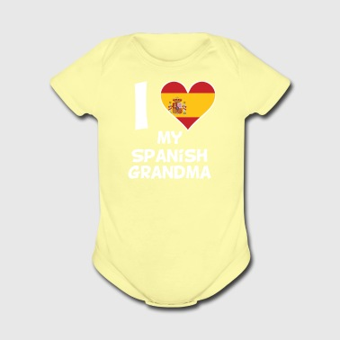 I Heart My Spanish Grandma - Short Sleeve Baby Bodysuit
