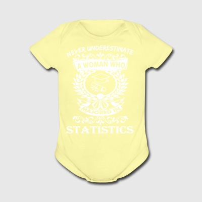 Never Underestimate Woman Who Majored Statistics - Short Sleeve Baby Bodysuit
