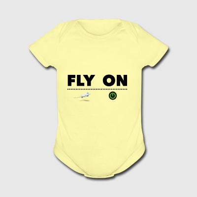 Fly - Short Sleeve Baby Bodysuit