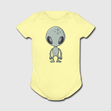 ALIEN 01 - Short Sleeve Baby Bodysuit
