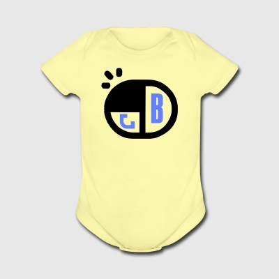 B Name Tag - Short Sleeve Baby Bodysuit