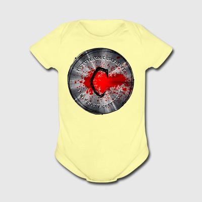 Silver circle - Short Sleeve Baby Bodysuit