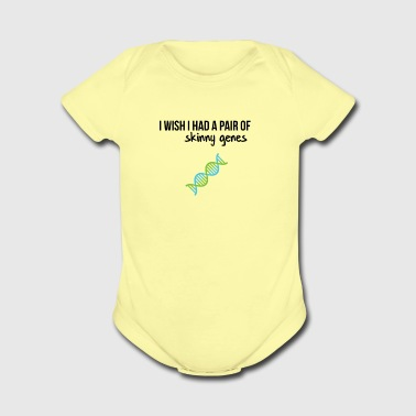 Pair of skinny genes - Short Sleeve Baby Bodysuit