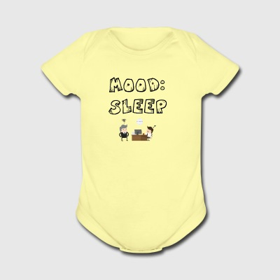 Mood sleep - Short Sleeve Baby Bodysuit