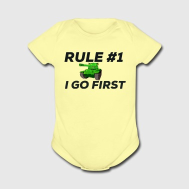 Tank Goes first! - Short Sleeve Baby Bodysuit