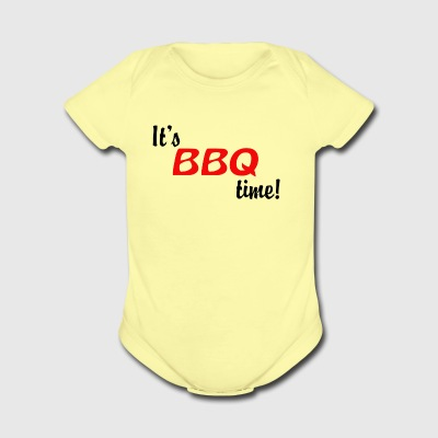 It s BBQ Time - Short Sleeve Baby Bodysuit
