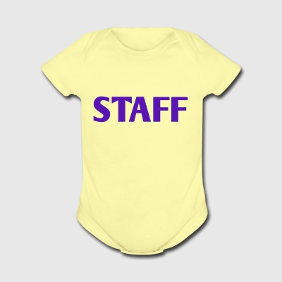 STAFF - Short Sleeve Baby Bodysuit