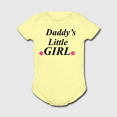 Daddys little girl - Short Sleeve Baby Bodysuit