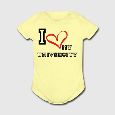 I_LOVE_MY_UNIVERSITY - Short Sleeve Baby Bodysuit