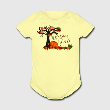 We Love Fall - Short Sleeve Baby Bodysuit