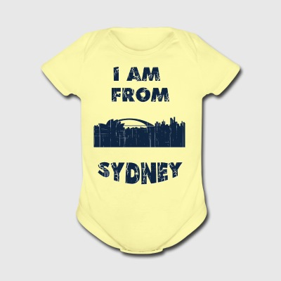 SYDNEY I am from - Short Sleeve Baby Bodysuit