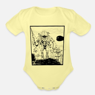 Spoof 149- Game spoof - Organic Short-Sleeved Baby Bodysuit