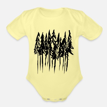 Trees - Organic Short-Sleeved Baby Bodysuit