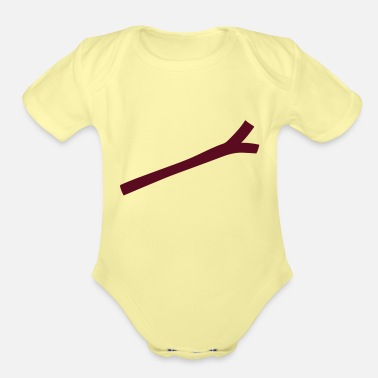 Stick Dowsing, Stick - Organic Short-Sleeved Baby Bodysuit